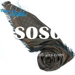 2011 new winter design cotton and silk Scarf /long printed scarf/ brand Shawl Pashmina