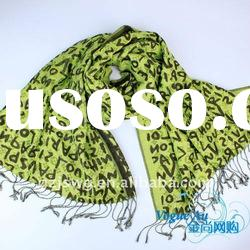 2011 new winter design cotton fashion double layer Scarf /long printed scarf/ brand Shawl Pashmina