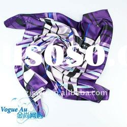 2011 novel fashion satin silk scarf Scarf /square printed scarf/ brand name Shawl Pashmina