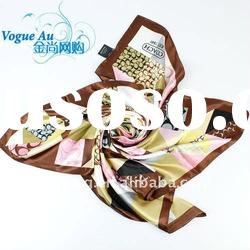 2011 particular hot sale viscose scarf display /square printed scarf/ brand name Shawl Pashmina