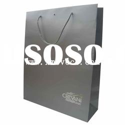 2012 new design paper bag with cotton handle