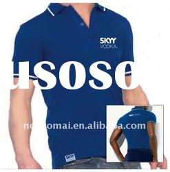 2012 summer hot ! High quality 100% cotton short sleeve men's polo shirt with printing