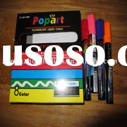 8 color of Fluorescent marker pen for led writing board