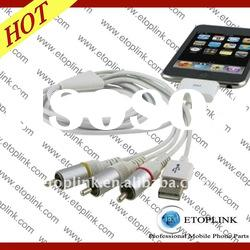 AV TV RCA Video USB Cable for Iphone 3 3GS 4G for ipod Touch 4