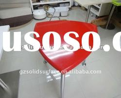 Acrylic Solid Surface Red Dining table