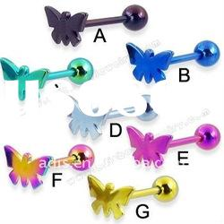 Attractive butterfly tongue barbell body jewelry