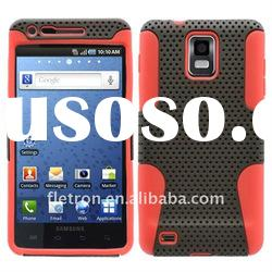 Black With Red Silicone +Hole Hard 2 in 1 Case For Samsung Galaxy S I9000