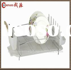 Dish drainer with tray,cutlery basket and cup holder