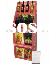 Display stand,cardboard beverage display rack/shelf for supermarket