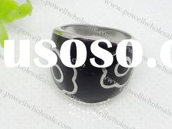 Epoxy Stainless Steel Jewelry rings