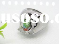 Fashion Murano Stainless Steel rings for lady