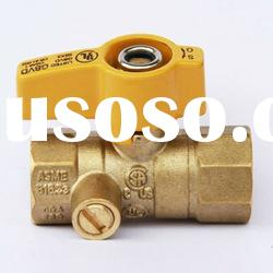 Gas Brass Ball Valve With Drain (Female Thread * Flare)