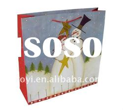 High quality christmas gift paper bag