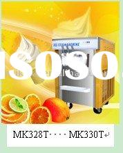 Ice cream machine with pre-cooling system
