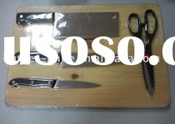Knife Set -5Pcs With Wooden Cutting Board