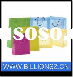 Manufacturer ECO -Frienly plastic clear PP shopping bag