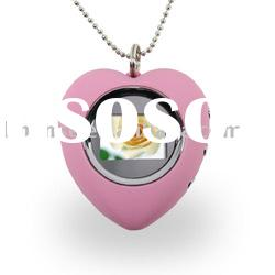 "Mini 1.1"" Heart Digital Keychain Photo Frame Picture Album"