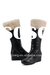 New Coming Lady charming fashion Sheepskin rain winter snow boots