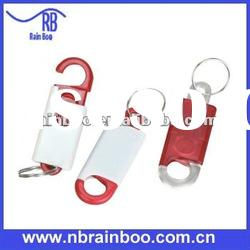 Novelty plastic badge holder with keychain