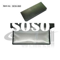 PU leather and Plastic Pen box with satin cloth liner