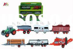 Plastic Car Toys Tractor trailer farm tractor toys toy trucks and trailers