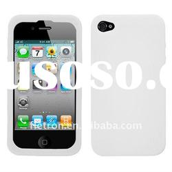 Semi Transparent white Candy Skin Cover (Rubberized) for Apple iPhone 4, 4G, 4S