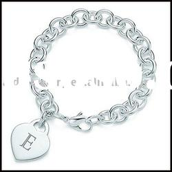 Silver charms bracelet & silver jewelry YH (10)