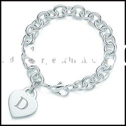 Silver charms bracelet & silver jewelry YH (9)