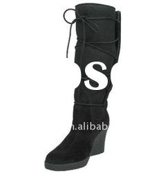 Wedge Side Button elegant winter Middle 2011 fashion ladies winter boots