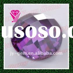 Wholesale Faceted Semi-round Amethyst Beads