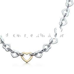 & Fashion Jewelry silver Heart gold Pendants Necklaces P031
