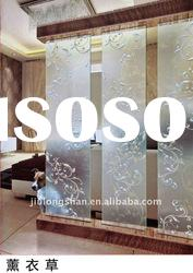 art glass series decorative sliding door entrance screen JLS-19