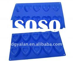 custom heart shaped silicone jelly cake mould