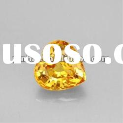 golden yellow heart cut cubic zirconia gemstones, AAA CZ gems beads stones.
