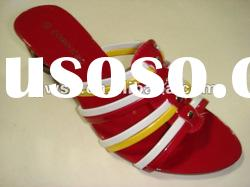 h2012 hot selling new design hot Fashion Ladies' PU sandals slippers