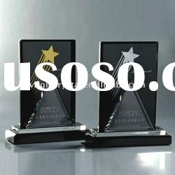 laser engraved rising star crystal star plaques and awards