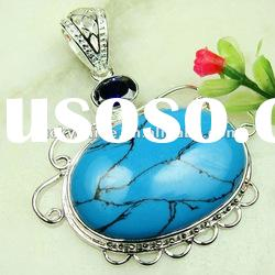 natural gemstone pendant new style jewelry popular Christmas gift blue Turquoise pendants