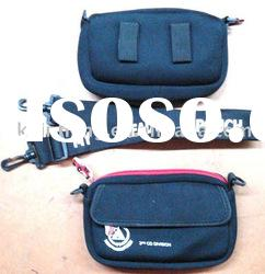 neoprene compartment bag with shoulder strap