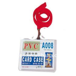 plastic ID card holder with lanyards