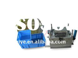 plastic injection turnover box mould &mold