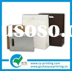 promotion gift paper bag printing bagpackaging with different handle type
