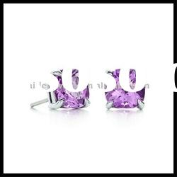 silver earrings with crystal earrings jewellery silver jewelry wholesale