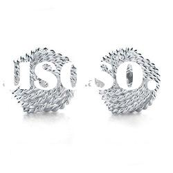 wholesale silver Woven Stud Earrings jewelry F27
