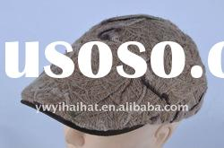 winter gray fashion beret hat