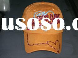 100 Cotton Baseball Cap 3D Embroidery Customized Logo with Water Drills