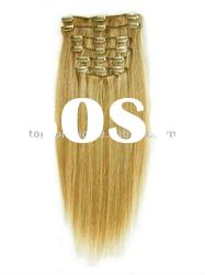 100% remy human hair clip in hair extensions products
