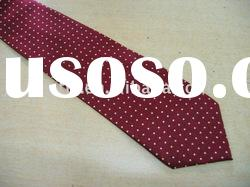100%silk red design fashion printed necktie