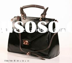 2010 Fashion leather bag, leather lady handbag, brand handbag, designer handbag,women bag