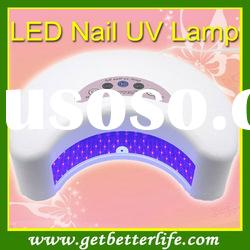 2011 Newest LED NAIL UV LAMP Nail art Machine 12W White color FREE SHIPPING