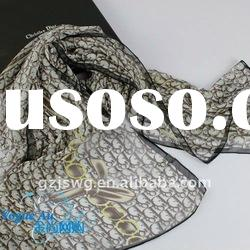 2011 checked lace design spinning silk scarf /long printed shawl scarf / new arrival pashmina scarf